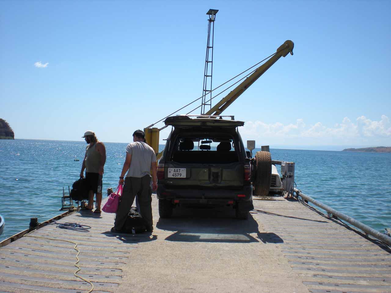On the dock at Mpulungu