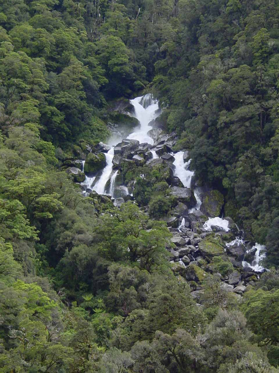 Closer more zoomed in view of Roaring Billy Falls