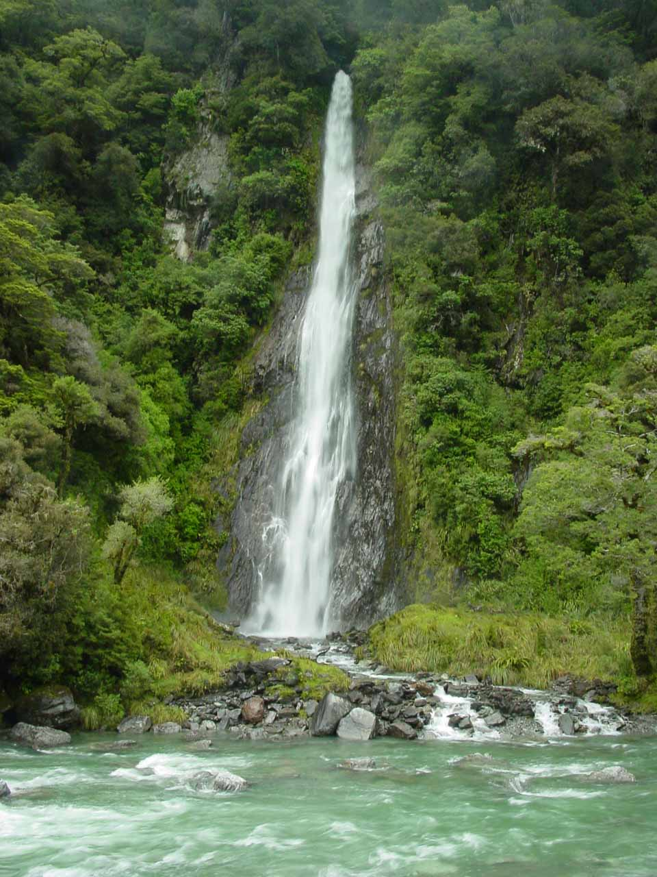 Well-known Waterfall In Mt Aspiring NP