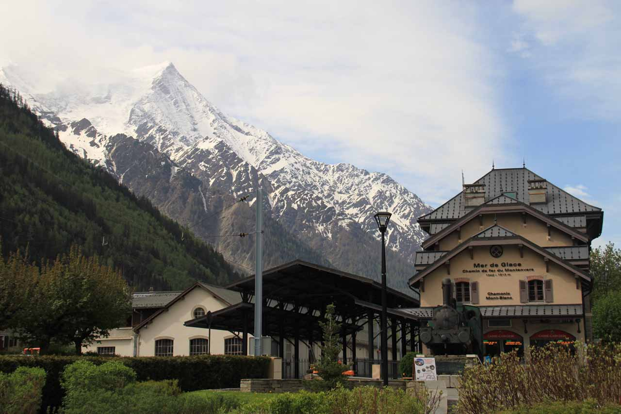 Within the town of Chamonix-Mont-Blanc