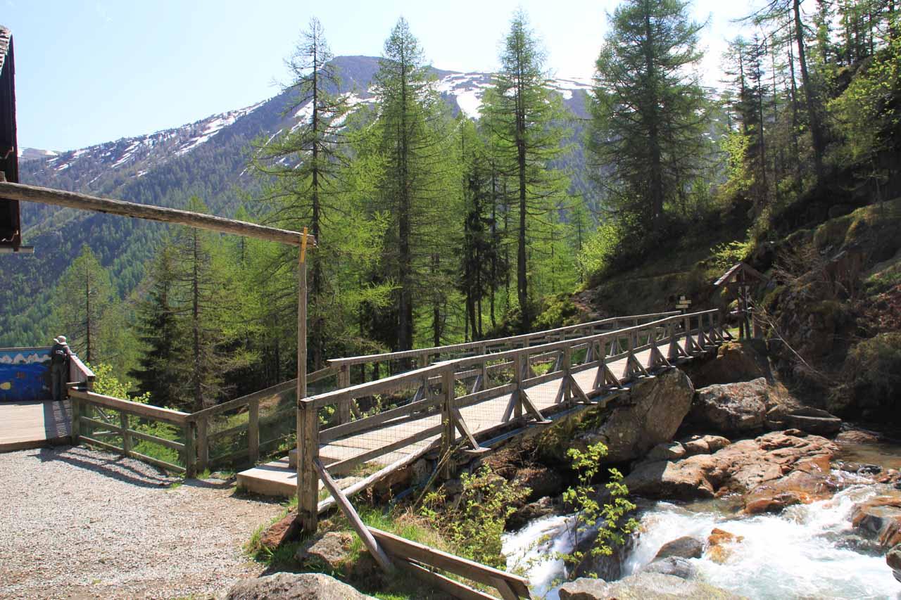 At the top of Cascade de Berard