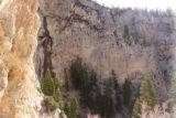 Mt_Charleston_174_04222017 - Looking back towards the rightmost segment of Mary Jane Falls from the mouth of the alcove