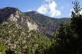 Mt_Charleston_231_08112020 - Looking back across the head of Kyle Canyon towards Mary Jane Falls from the wash leading up to Big Falls in August 2020