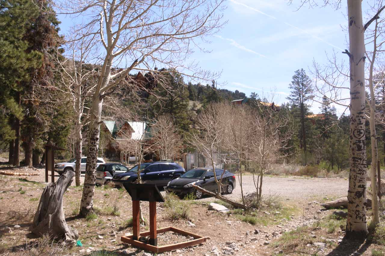Looking back at the Echo Trailhead