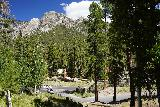 Mt_Charleston_386_08112020 - Looking down towards the turnoff for the Cathedral Rock Trailhead and Picnic Area as I started my hike to Little Falls in August 2020