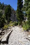 Mt_Charleston_407_08112020 - The Little Falls Trail continuing to climb as it started to enter the mouth of the canyon containing the Little Falls as seen in August 2020
