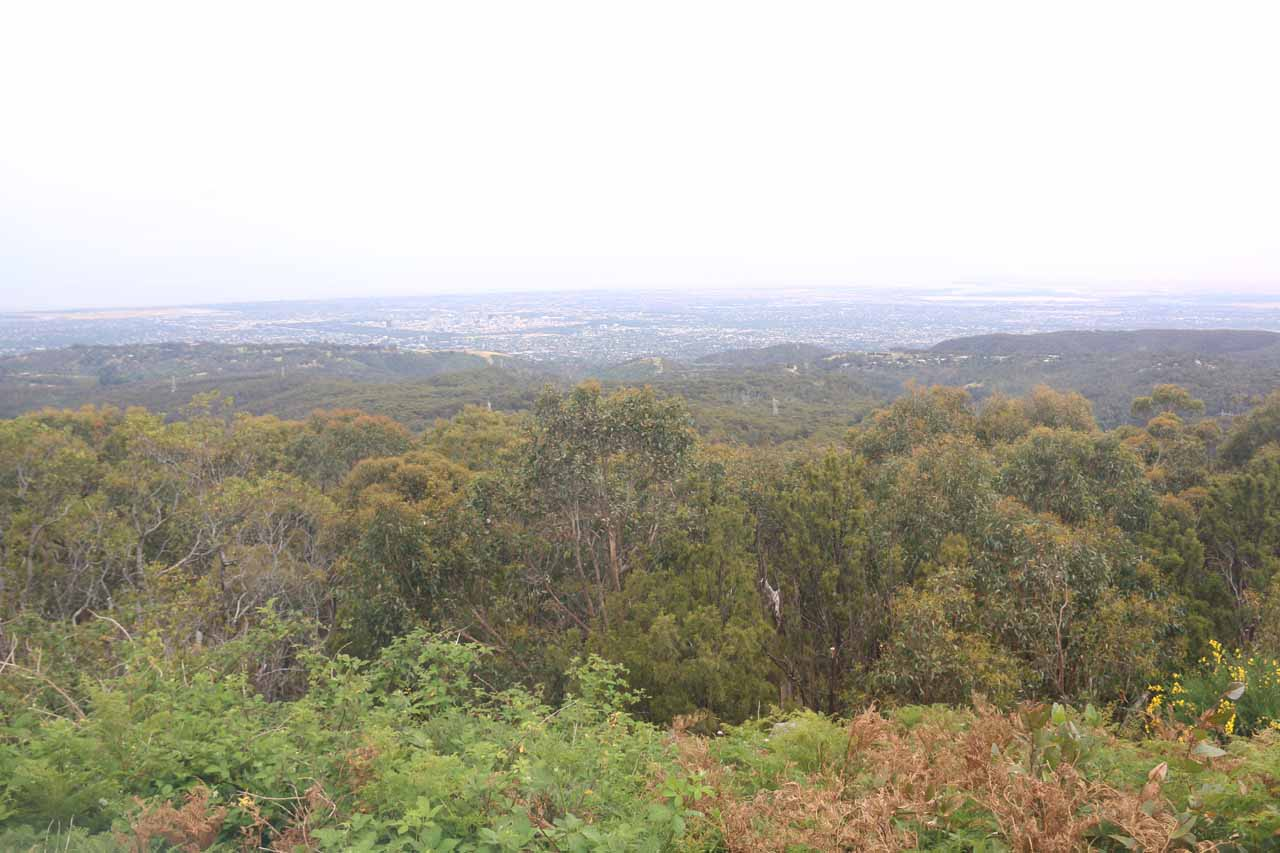 This was the sweeping view from Mt Lofty, which was over the city of Adelaide some 2 hours drive from Victor Harbor