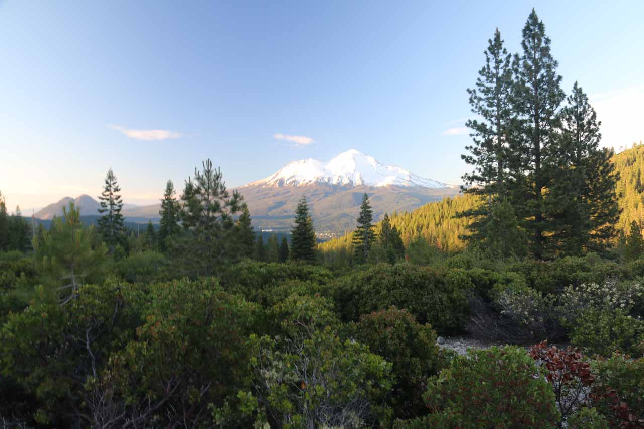 It was roughly a 90-minute drive or so to get from Potem Falls to Mt Shasta, but since many of the waterfalls and attractions were in clusters, it was easy to break up the drive and enjoy the area