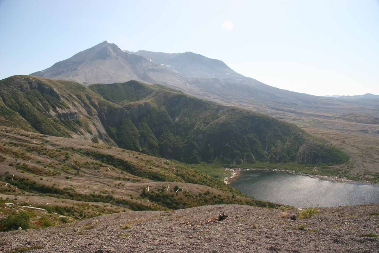 Last look at Mt St Helens and Spirit Lake