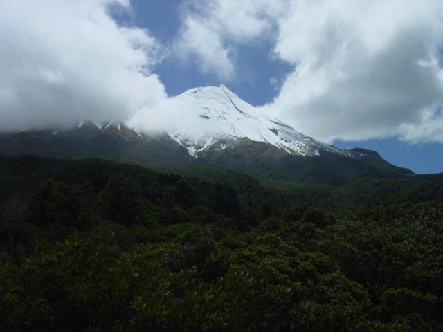 Mt_Taranaki_013_11172004 - This was the view looking up at Mt Taranaki from the Dawson Falls Visitor Centre on the volcano's southeastern slopes