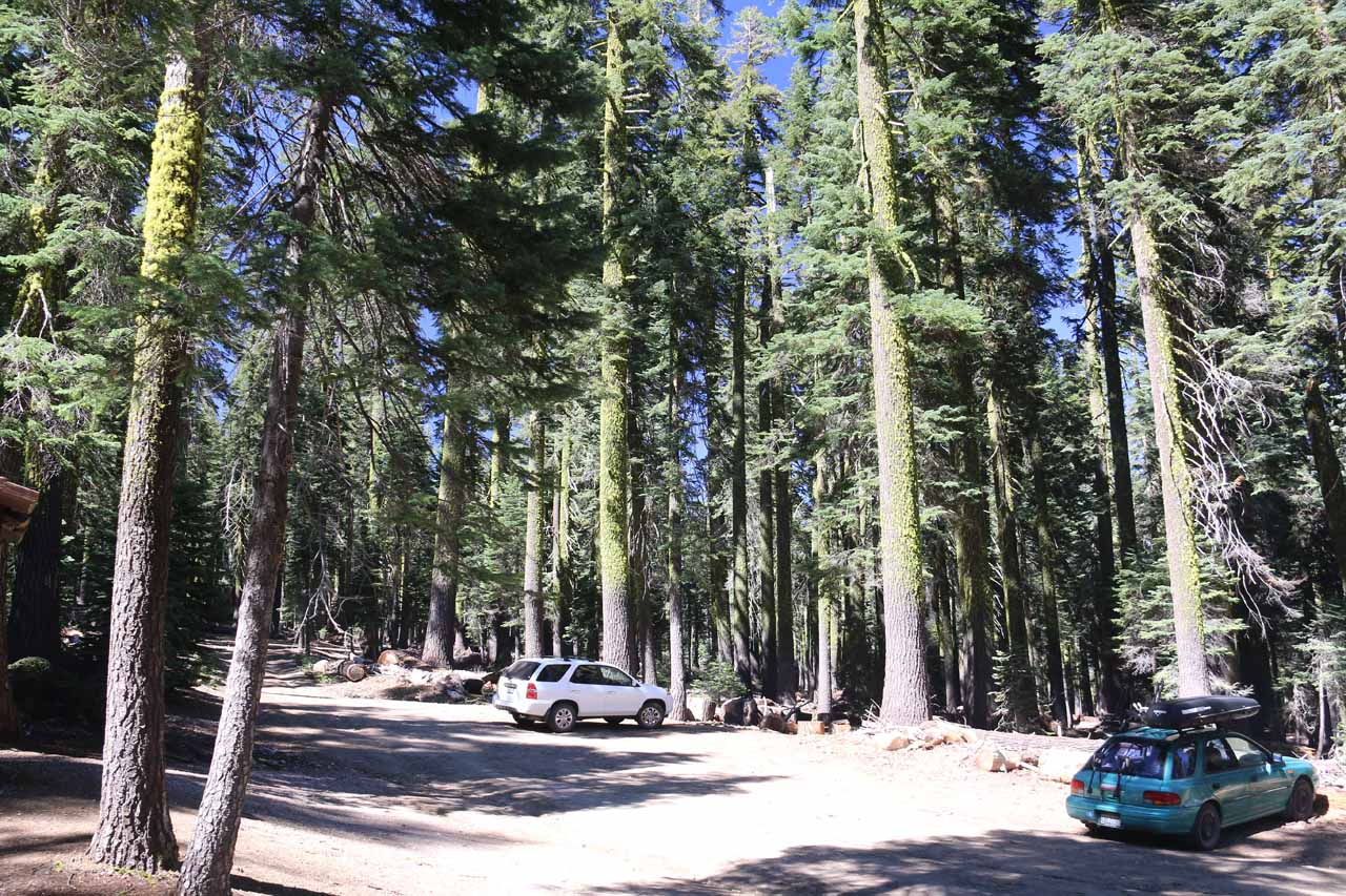 This was the hard-to-reach Clear Creek Trailhead on the southeastern slope of Mt Shasta