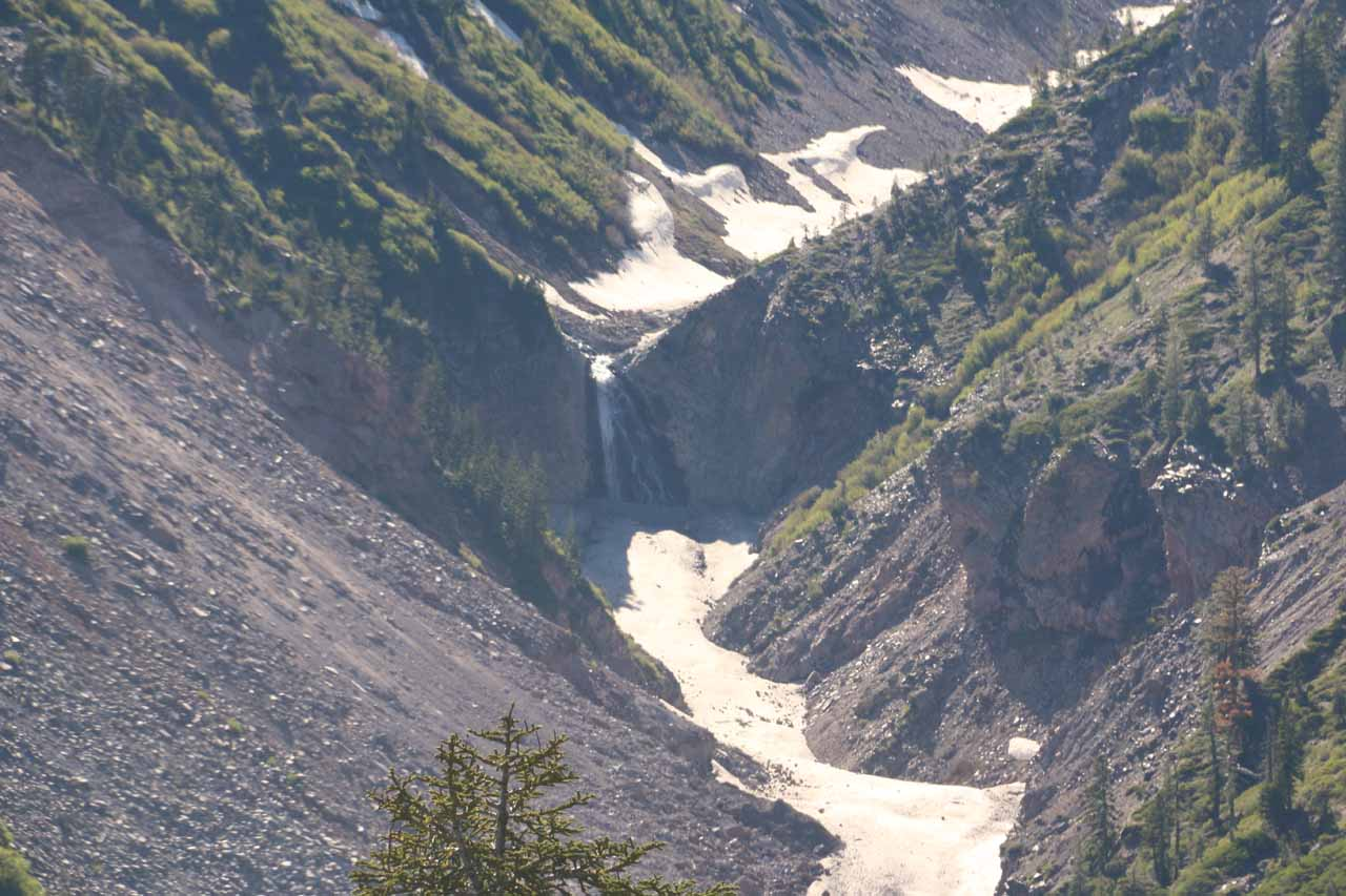 Distant view of Mud Creek Falls