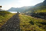 Mulafoss_017_08092021 - Approaching the footbridge and Þorbjörn Arnoddsson memorial