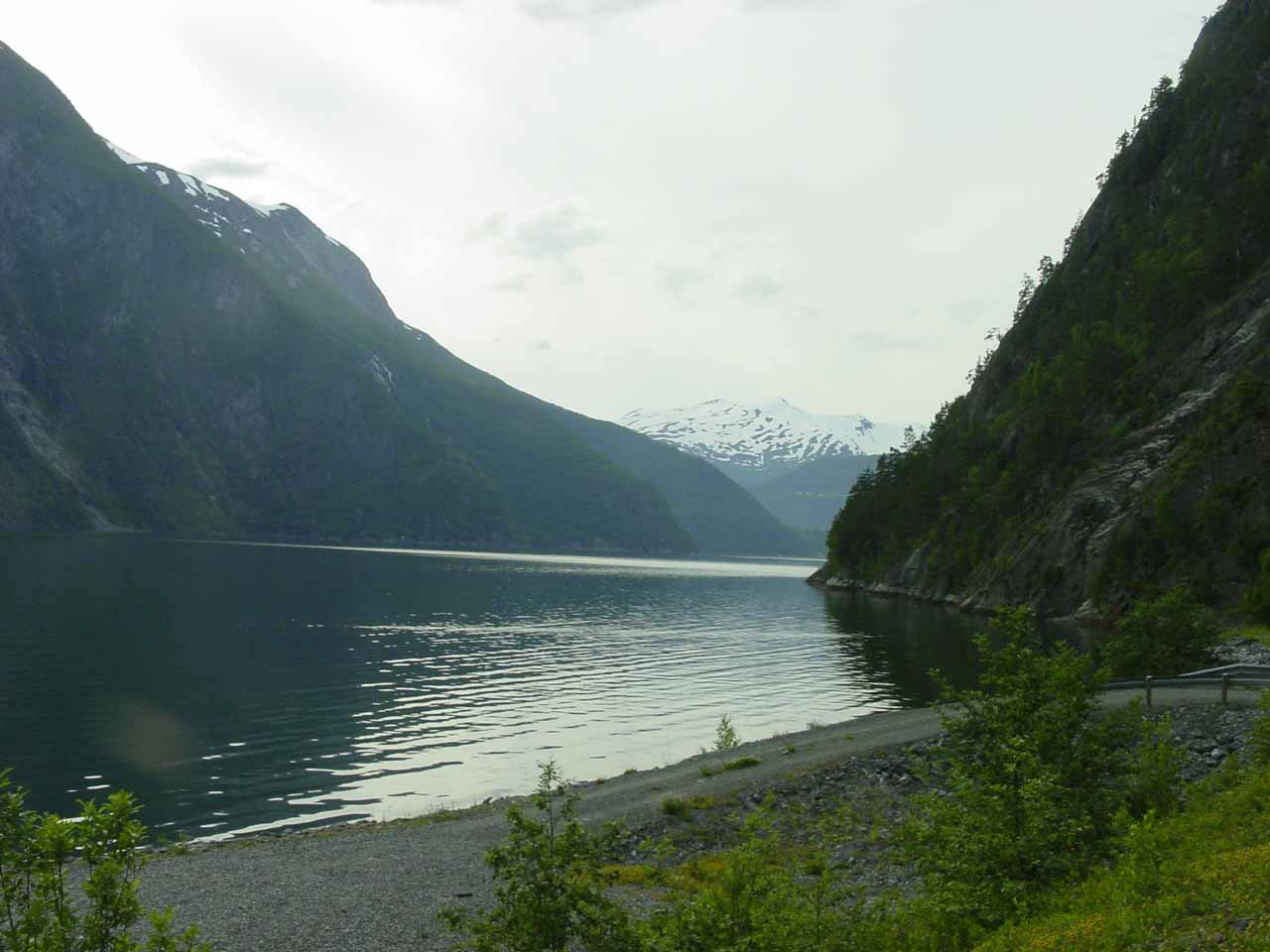 At the shores of Tafjorden as I was about to start the hike for Muldalsfossen