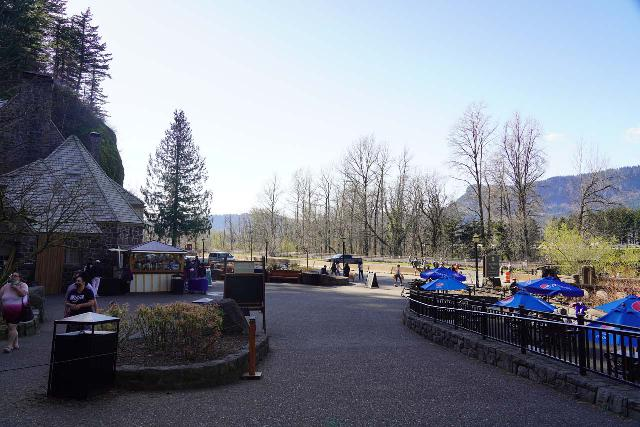 Multnomah_Falls_031_04052021 - The parking lot in front of the Multnomah Falls Lodge was eerily empty due to the Historic Columbia River Highway being closed as it was still suffering from landslides resulting from the soil loss after the Eagle Creek Fire in 2017