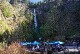 Multnomah_Falls_033_04052021 - Looking over some outdoor seating areas at Multnomah Falls in an effort to observe public safety regarding the COVID-19 pandemic during our early April 2021 visit