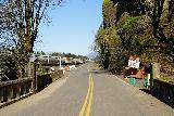 Multnomah_Falls_034_04052021 - Looking up the empty Old Columbia River Highway, which was still closed 4 years after the wildfire event in September 2017 caused by a boy who chucked fireworks into Eagle Creek