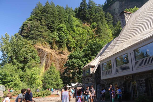 Multnomah_Falls_17_003_08162017 - In front of the Multnomah Falls Lodge, which acted as a visitor center, souvenir shop, and as a cafe