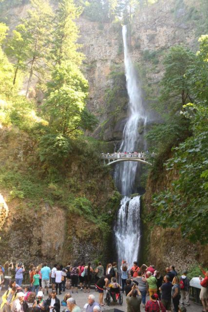 Multnomah_Falls_17_008_08162017 - It can get quite busy at the Multnomah Falls given how easy it was to access it, especially in recent years as its notoriety as well as the population overall has grown