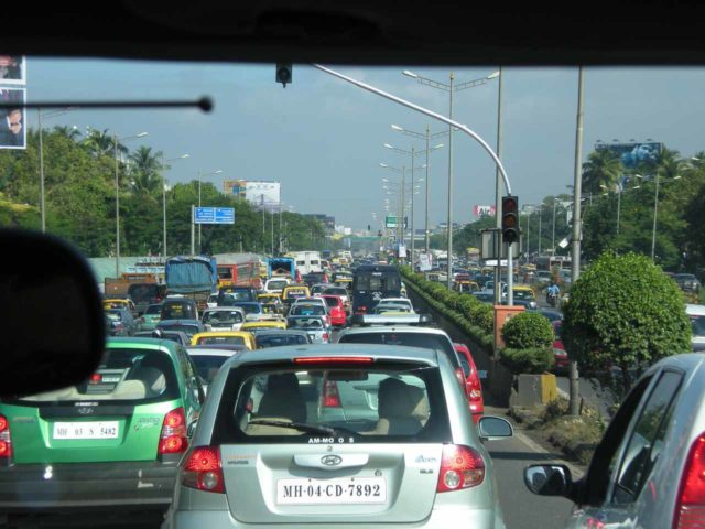 Major congestion in Mumbai, India, which was definitely one place where I wouldn't feel comfortable driving on my own