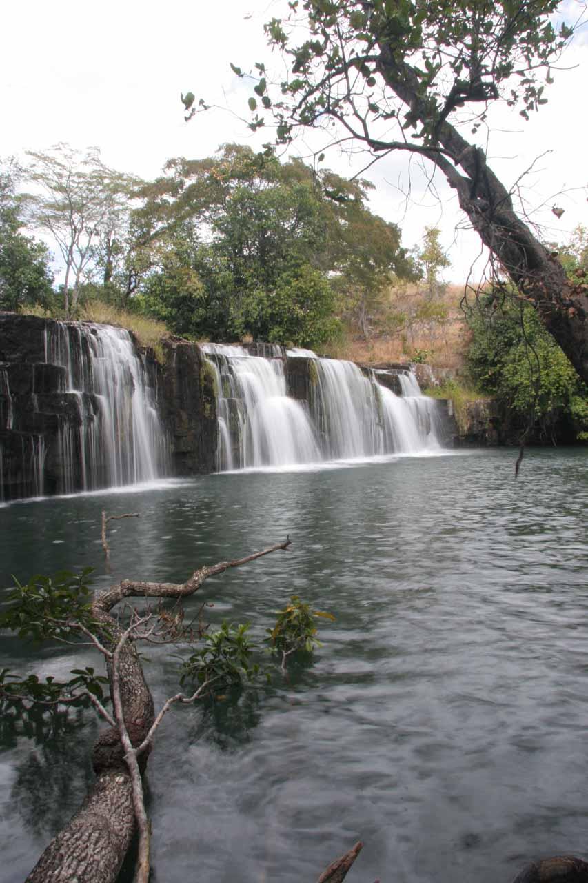 Angled view of the lower Mumbuluma Falls