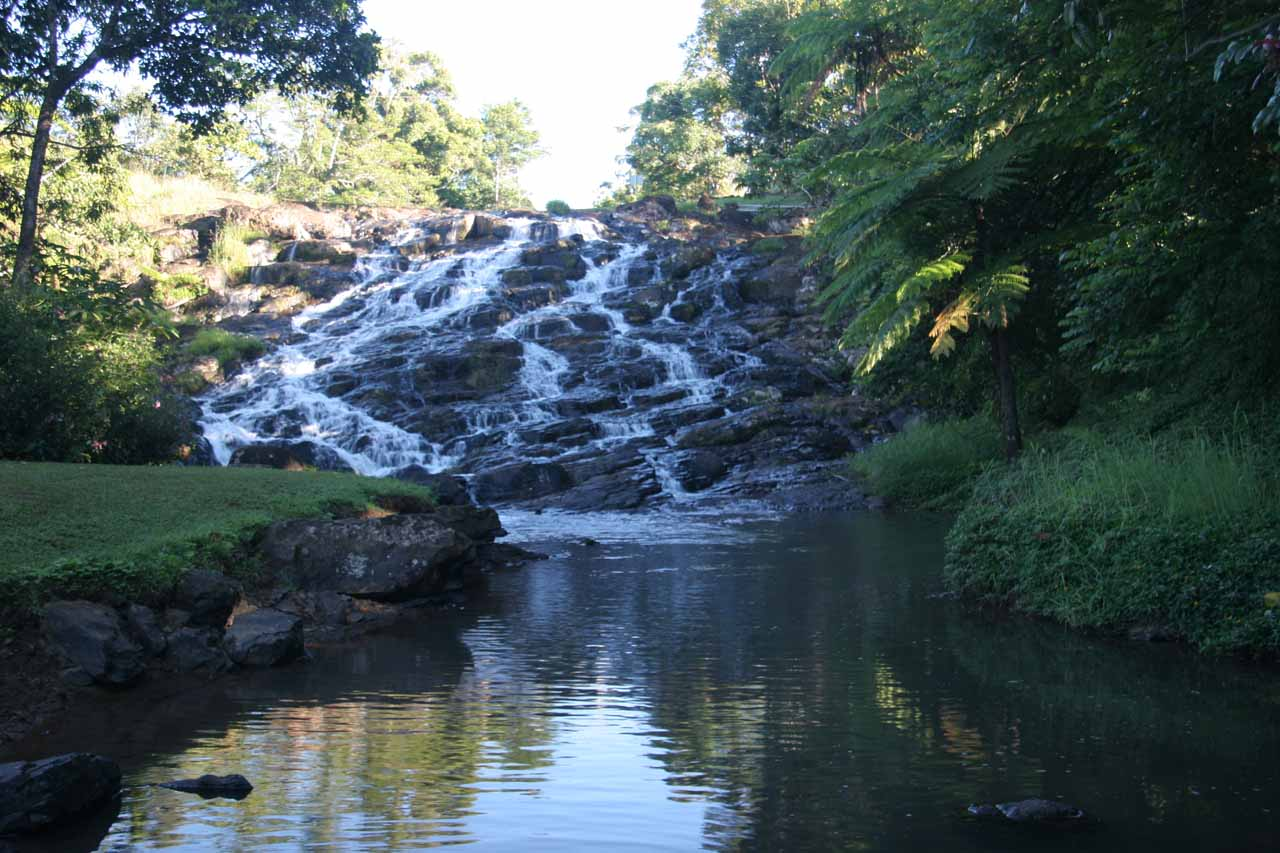 Looking upstream towards the Mungalli Cascade as we started to walk towards the bottom of Mungalli Falls