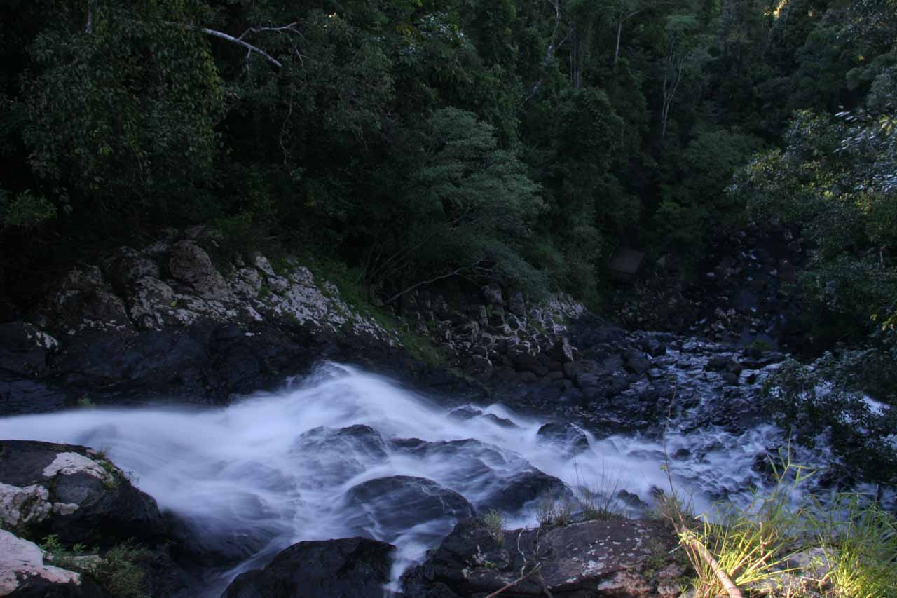 Looking down at the Mungalli Falls from its top