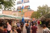 Munich_287_06292018 - Checking out the Viktualienmarkt, which was an outdoor foodie market with a big beer garden in there too
