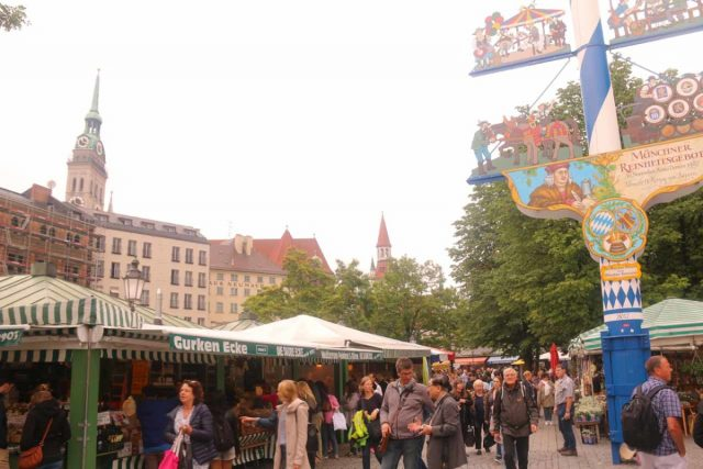 Munich_294_06292018 - There was lots to see and do in Munich, and that included checking out the food stalls and beer garden at the Viktualienmarkt in the city's altstadt