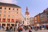 Munich_338_06292018 - Looking towards one end of the narrow but tall Marienplatz