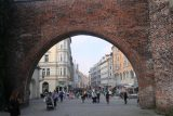 Munich_429_06292018 - Looking through the Sendlinger Tor towards the Sendlingerstrasse, which eventually led to the Marienplatz in Munchen