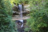 Munising_Falls_021_09292015 - Broad view between the trees at the attractive Munising Falls from the main lookout