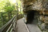 Munising_Falls_039_09292015 - The upper walkway going past this interesting alcove on the way to the dead-end (which used to be part of a loop trail going behind the Munising Falls)
