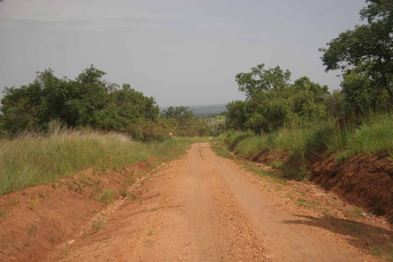 The unsealed road within Murchison Falls National Park