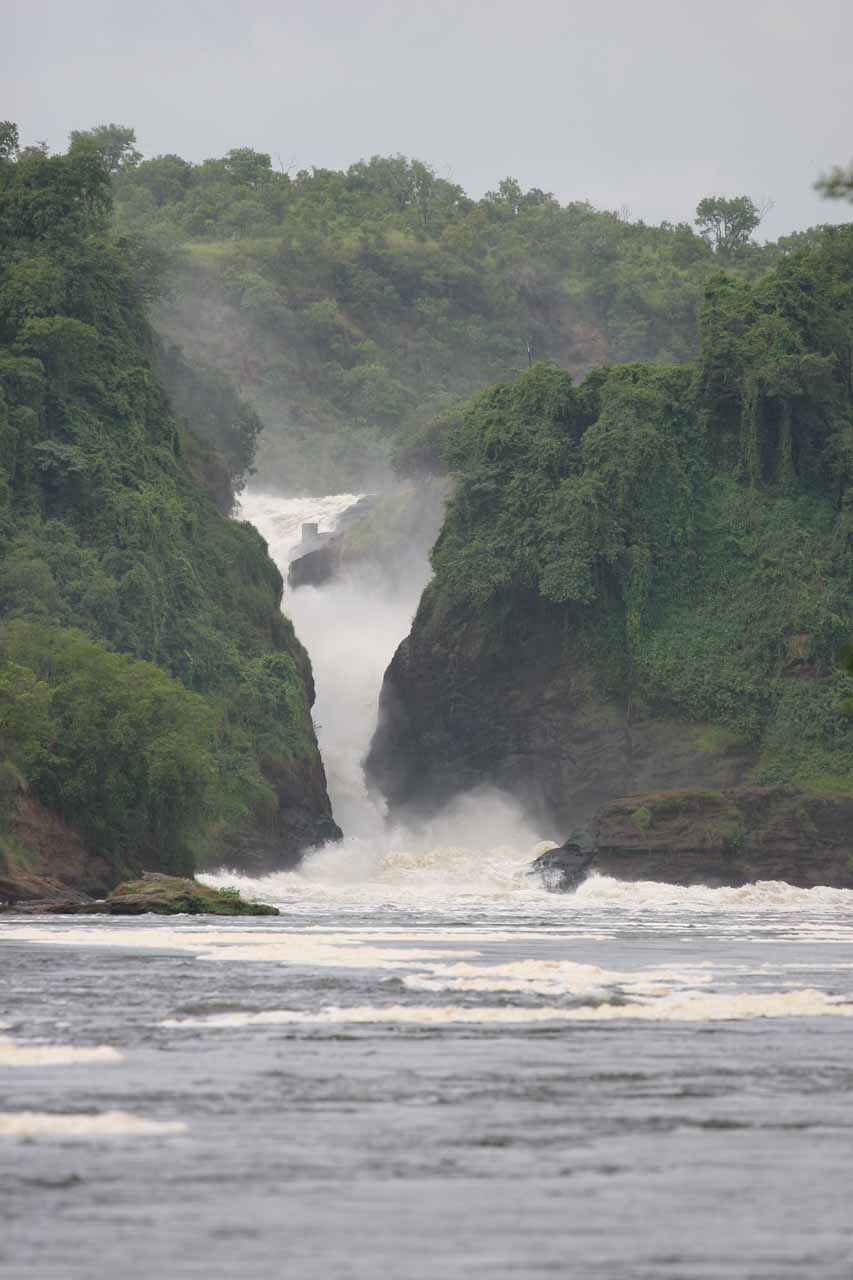 This was probably as close to Murchison Falls as we were going to get on the boat safari