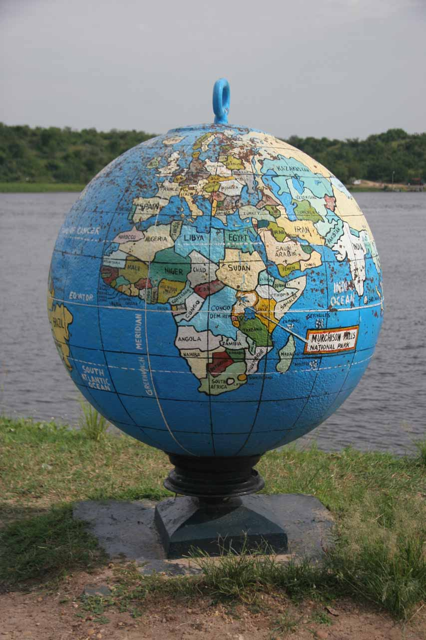 Globe by the Nile River Ferry