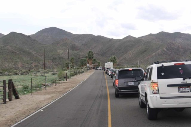 Murray_Canyon_001_02112017 - Before entering the Agua Caliente Reservation Land, we had to patiently wait our turn to pay the entry fee to continue on