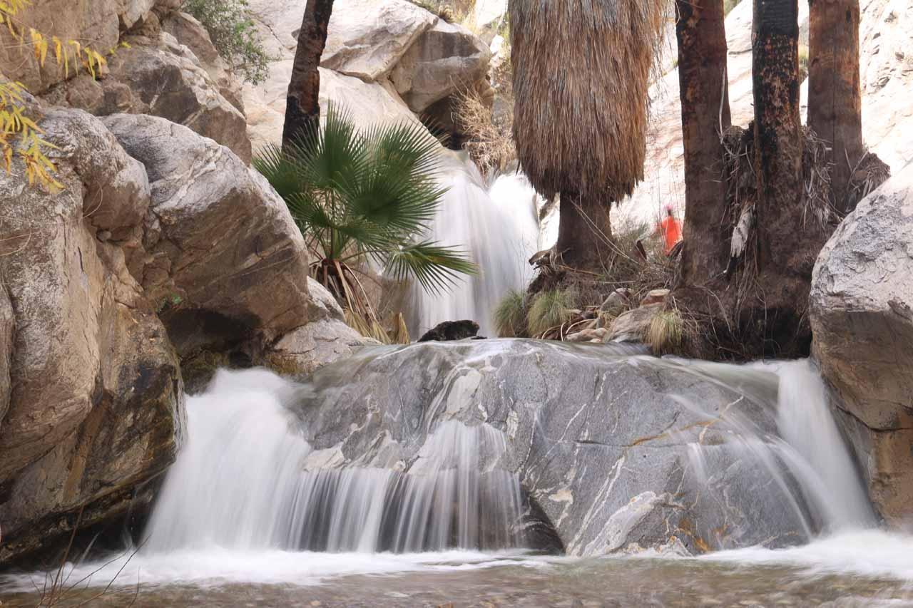 Closeup look at the main Murray Canyon Falls