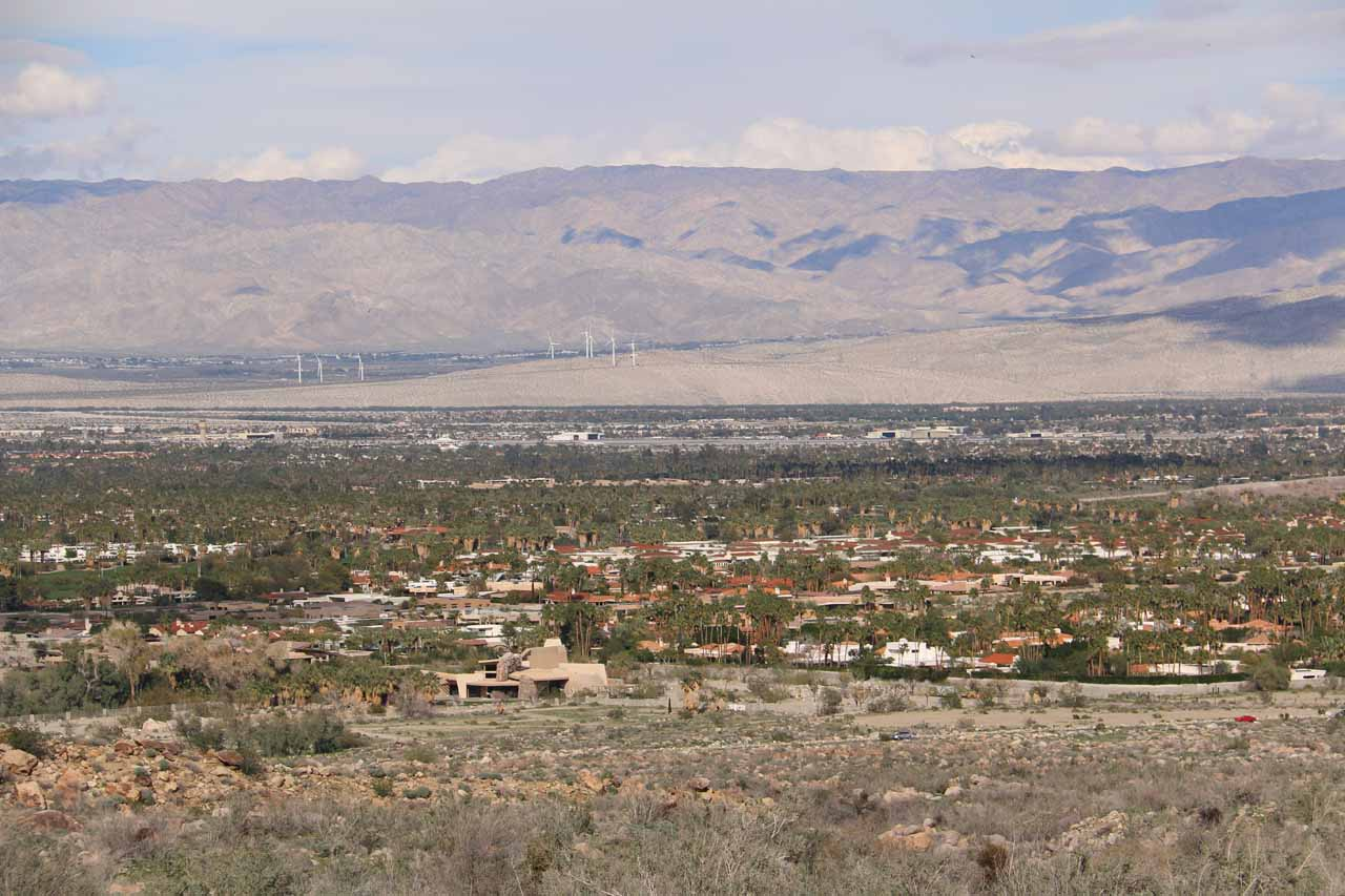 Looking towards Palm Springs from the picnic area of Andreas Canyon