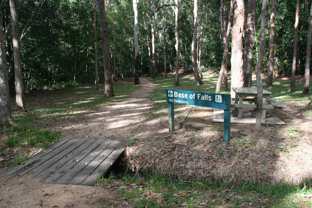 Start of the track to Murray Falls