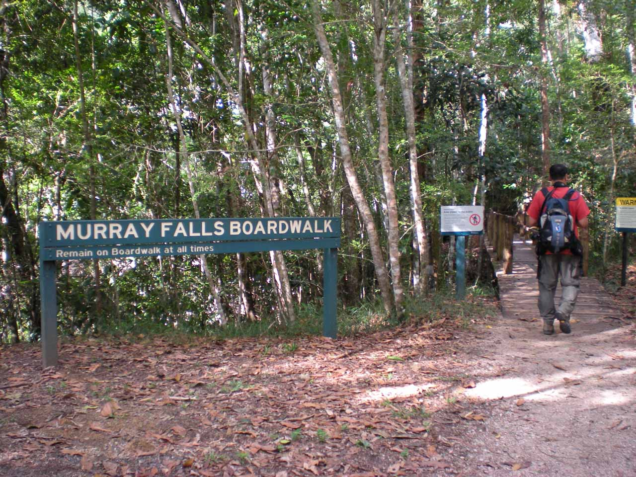 That's me going on the boardwalk to Murray Falls