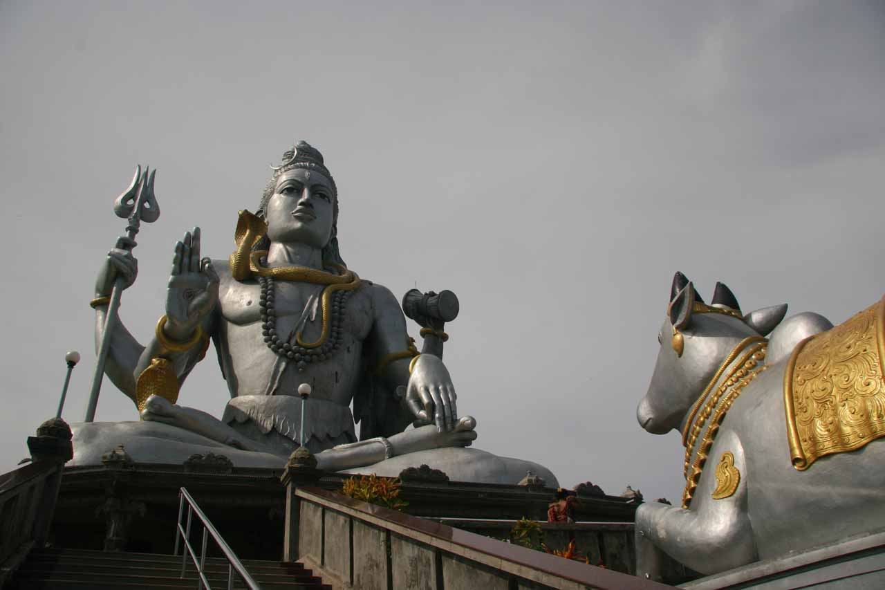 Cow and Shiva Statue