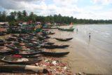 Murudeshwar_072_11152009 - Last look at a lot of boats on a beach at Murudeshwar