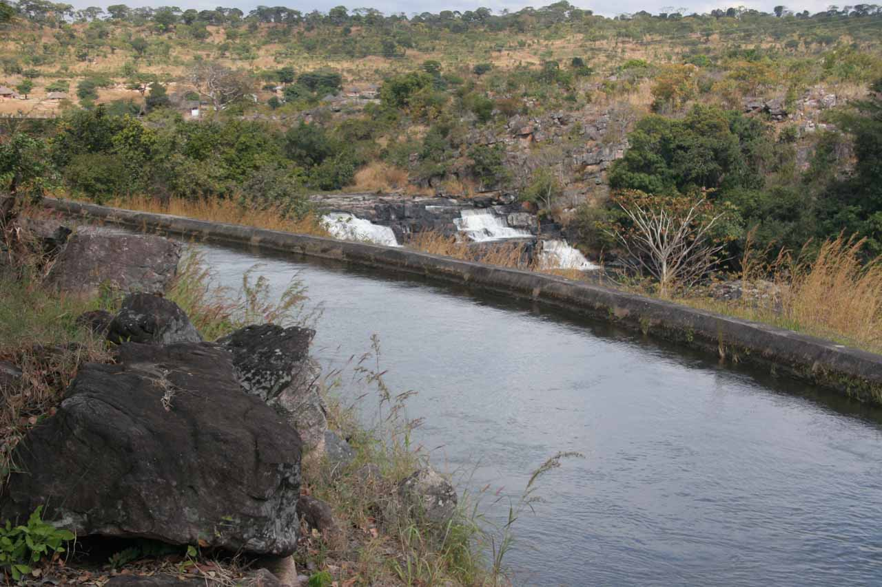 This was Musonda Falls, which was also near Mansa.  We didn't devote a whole page to it given the rather disappointing experience thanks to the hydroelectric infrastructure and unsatisfactory views.  We accessed the falls along the road into Luapula Province