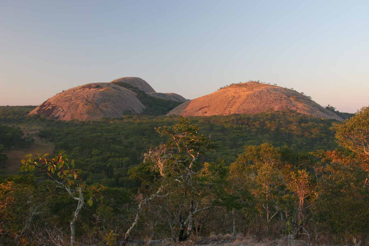 Domes at the Mutinondo Wilderness in early morning light