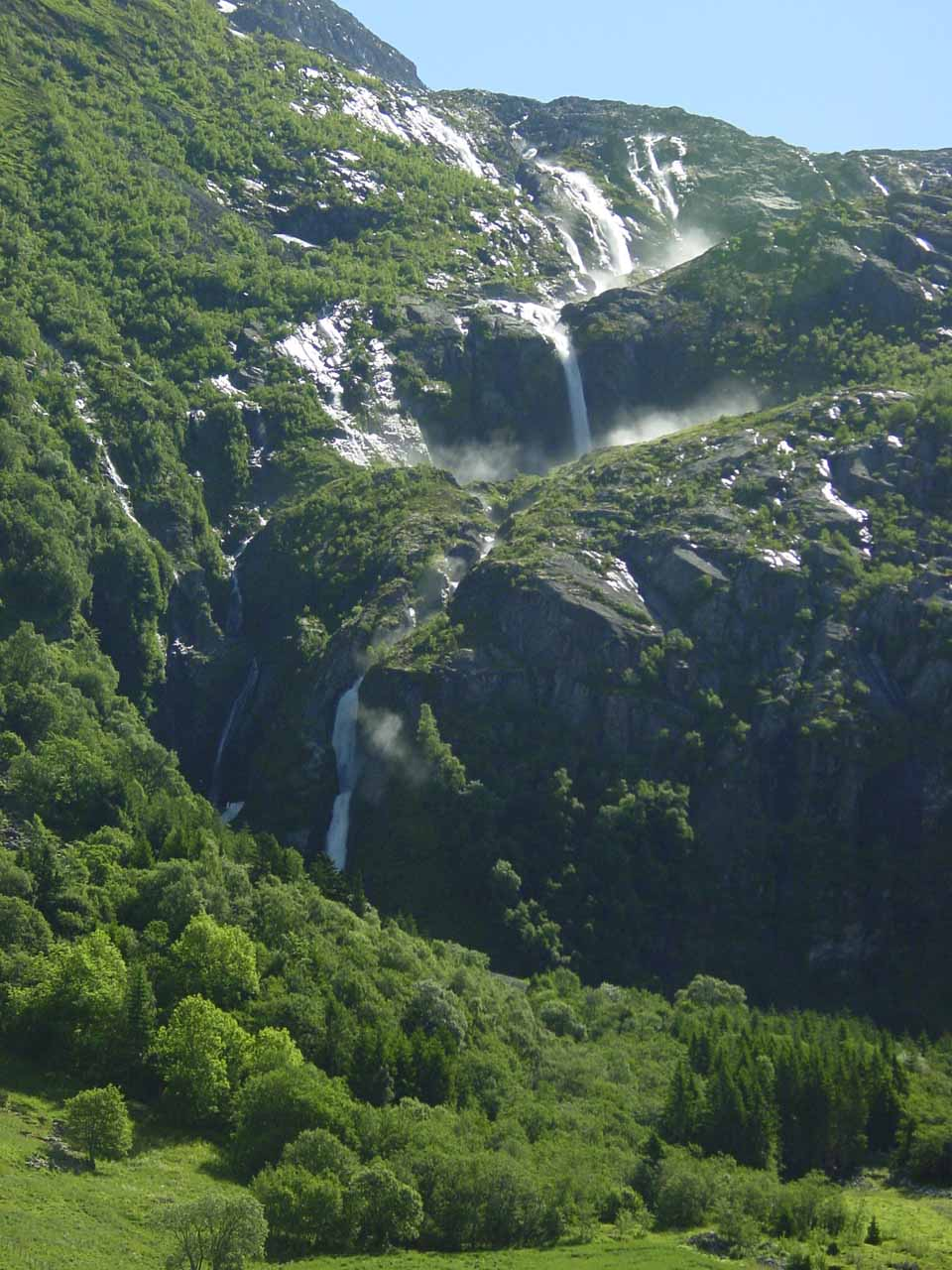 More zoomed out look at Strupenfossen