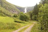 Myklebust_077_07192019 - Getting closer to the front of Sanddalsfossen though foreground obstructions still made it more difficult to appreciate it from this side of the river