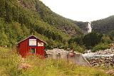 Myklebust_079_07192019 - Approaching the small rubble dam and power station fronting Sanddalsfossen