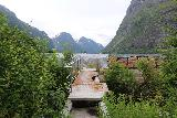 Myklebust_095_07192019 - Back at the somewhat concealed footbridge with Sanddalsvatnet in the background
