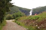 Myklebust_112_07192019 - Looking ahead towards Sanddalsfossen as I was approaching some kind of cabin en route to Sanddalstoylen